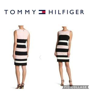 Tommy Hilfiger Pink Color Block Sleevless Dress